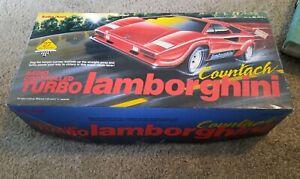NOS Radio Shack Vintage Red Turbo Lamborghini Countach RC Car Original 60-4074