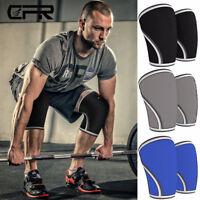 Pair 7mm Comprssion Knee Sleeves Powerlifting Weightlifting Support Crossfit Gym