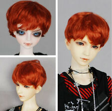 """8-9"""" Carrot Color Short Synthetic Mohair Doll Wig"""