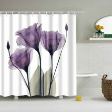 "Purple Plum Flower Lavender Hope Shower Curtain Bathroom Decor  Fabric 71""X71"""