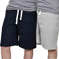 Mens Fleece Summer Shorts Elasticated Waist Jersey Sports Jogging Running Shorts