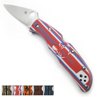G10 Scales Back Spacer for Spyderco Endura 4 Knife Handle Punisher Texture ED4-P