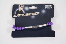 Justin Bieber Boyfriend Beaded Bracelet Purple JB Authentic Bravado NWT