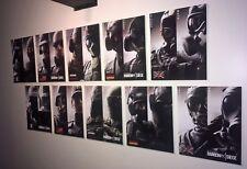 Rainbow Six Siege wall decoration 20 original operators on 10 floating prints