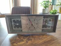 Airguide Mid Century Modern Weather Station Barometer Temperature Humidity