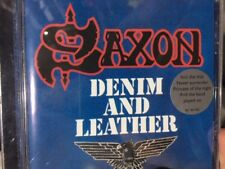 SAXON - DENIM AND LEATHER (MADE IN HOLLAND)   CD AS NEW
