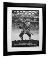 GRAND PRIX+Samurai+POSTER+AD+RARE ORIGINAL 1983+QUALITY FRAMED+FAST GLOBAL SHIP