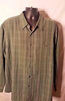 Saddlebred Vintage Oxford Men's Long Sleeve Button Down Shirt XXL Green Color