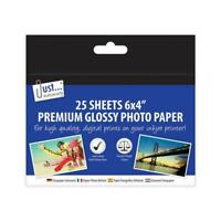 Photo Paper 6x4 - Glossy Inkjet Printing 25 Sheets Premium Quality Images Print
