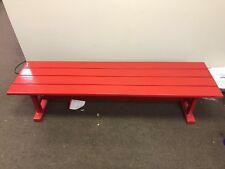 Woodard Bruster's Ice Cream Red Aluminum Bench 6 Foot