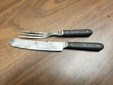 Antique Knife & 3 Prong Fork - J. Russell & Co. Green River Works - 1800's Era