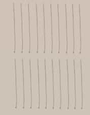 10 x STERLING SILVER  40mm 1mm BALL HEADPINS HEAD PIN
