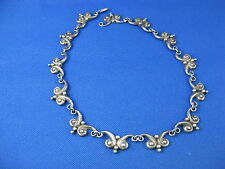 VICTORIA TAXCO STERLING SILVER SWIRL PATTERN NECKLACE 16 IN LONG
