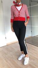 Strickjacke, Marke Armani Jeans, rot-weiß-gestreift, Gr. 38