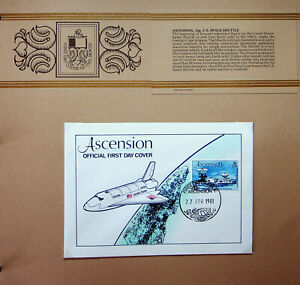 ASCENSION 1981 US SPACE SHUTTLE 15p ILLUSTRATED FDC