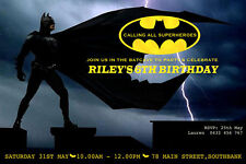 Batman Birthday Invitation Any Age-We Print/Print Yourself
