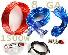 1500W SUB Audio 8 Gauge Car Amplifier Amp Installation Wiring Complete Kit+ RCA