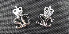 Ex Police Chrome Nickel Collar Epaulette Queens Crown Special Constabulary Badge