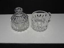 Gorham Althea Cream & Covered Sugar Set Clear Crystal ca 1982-1988