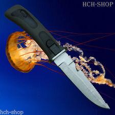 Fox Outdoor Tauchermesser Rettungsmesser mit Sägerücken Scheide Beinholster