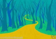 Original Color Pencil Art Print Direct from Artist mystudiointhenati PATH Forest