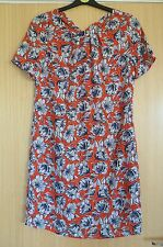 Tu Ladies Dress new 8 Red Floral Smart Summer BNWT £22 Work Office (be)