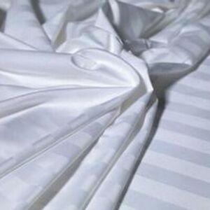 SATIN STRIPE Egyptian Cotton White 400 Thread Count Duvet Cover Set by AWL,