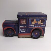 Vintage Hersheys Vehicle Series Canister Milk Truck Tin 1993 Collectors Tin