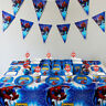 Spider Man Birthday Theme Party Decoration Tableware Range Banner Plates Cups