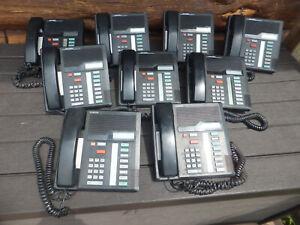 9 Used Nortel Norstar M7208 Black Business System Telephones