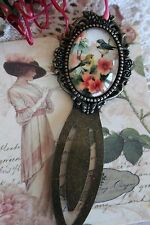 Bird Cameo Bookmark - Vintage Style French Bird Bookmark - Bird Book Mark Gift