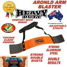 ORANGE ARNOLD WEIGHT LIFTING BODYBUILDING BICEP ARM BLASTER EZ BAR CURL ARMS