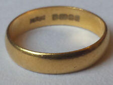 22ct Carat .916 % GOLD Wedding Band ring size L -   3 - 4mm wide 2.89g approx
