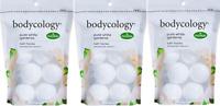 Bodycology Pure White Gardenia Bath Soak Fizzies Bombs 8 - 2.1 Oz Ball ( 3 Pack)