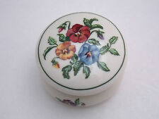 Partylite Trinket Box/Tealight Candle Holder W/Hinged /Top - Pansy Flowers