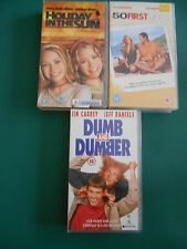 DUMB & DUMBER,  50 FIRST DATES  & HOLIDAY IN THE SUN VHS VIDEOS