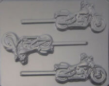 Motorcycle Chocolate Lollipop Candy Mold 410