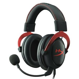 GENUINE Kingston HyperX Cloud II 2 Gaming Headset Black Red PC Mac PS4 XBox
