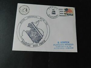 """USA -ANTARCTICA  1968 """" USCGC Southwind Cover to Buenos Aires """" F/Used & Catchet"""