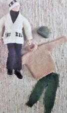 "Vintage Outfits for Ken Action Man Doll 12"" 4Ply Knitting Pattern"