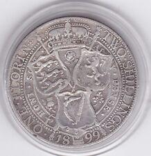 Sharp  1899   Queen  Victoria    Florin  (2/-)  Silver  Coin