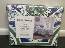 "Real Simple Sutton Twin Duvet Cover 100% Cotton 68"" x 90"""