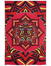 "3D Red Sun Face Tapestry Street Mural Wall Art w/ Corner Loops 60x90"" Mothman"