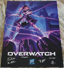Blizzcon 2016 Overwatch Signed Mini Poster