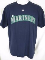 Seattle Mariners Dustin Ackley Mens Size M Medium Blue Majestic Shirt