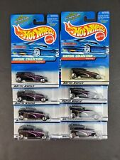 Hot Wheels Phaeton Virtual Collection #164 Purple Cars 1:64 Scale Lot of 8 - NEW