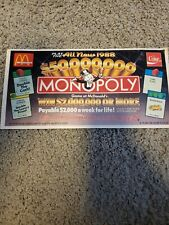 1988 McDonald's Monopoly Game Board and Includes some pieces MAKE OFFER! RARE!!