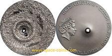 2016 Cook Islands, Tamdakht Meteorite Strike, $2 silver antique + box
