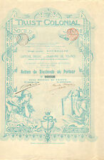 Trust Colonial SA, accion de dividendos, 1899 (Siege: Bruxelles)