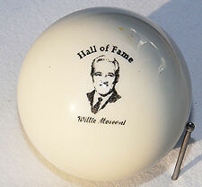 Mosconi Hall of fame engraved Cue ball Billiards, vintage ,custom design